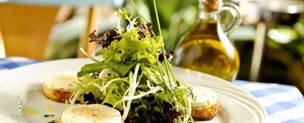 mesclun queijo de cabra, comida francesa