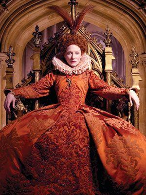 Cate Blanchett as Elizabeth I Queen of England in Elizabeth, the Golden Age, 2007, Costume design: Alexandra Byrne