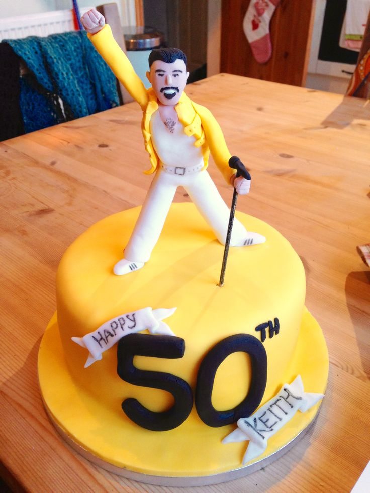 Freddie Mercury Cake Queen Cakes Themed Birthday Cakes