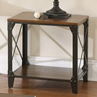 Shop for Windham Solid Wood and Iron Rustic End Table by Greyson Living. Get free shipping at Overstock.com - Your Online Furniture Outlet Store! Get 5% in rewards with Club O! - 16086983