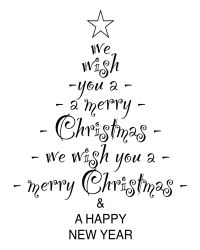 free christmas tree digital stamp set CAN MAKE A FORM OF AN IRIS FOLDED CARD BY WRITING THE WORDS ON EACH DIFFERENT FOLD OF PAPER IN THE TREE