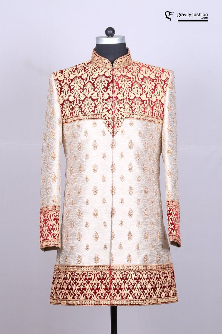 sherwani design for 2017, made in brocade fabric suitable for stylish groom
