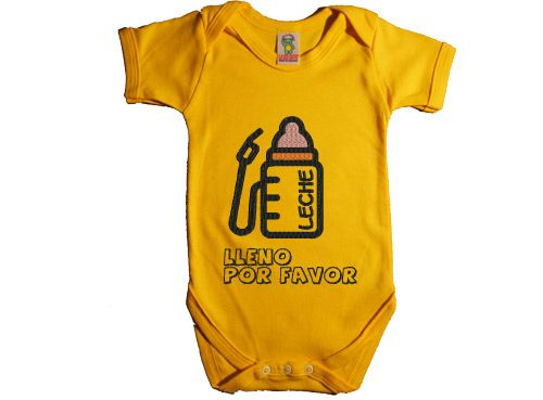 """Como siempre, un regalo de bebé super divertido. El body original de bebe """"Lleno por favor"""" está especialmente indicado para los chiquitines que siempre tienen hambre y se acaban el biberón como unos campeones. Puestos a hacer un regalo de bebé, ¿por qué no que tenga un toque de humor?"""