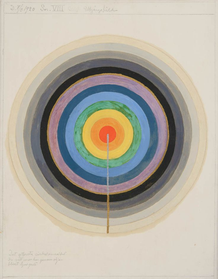 Hilma af Klint (October 26, 1862 – October 21, 1944) was a Swedish artist and mystic whose paintings were amongst the first abstract art.