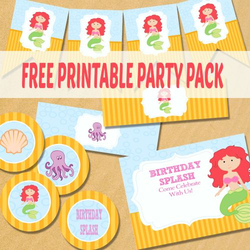 The Little Mermaid Party Printables - Free Printables for all occasions