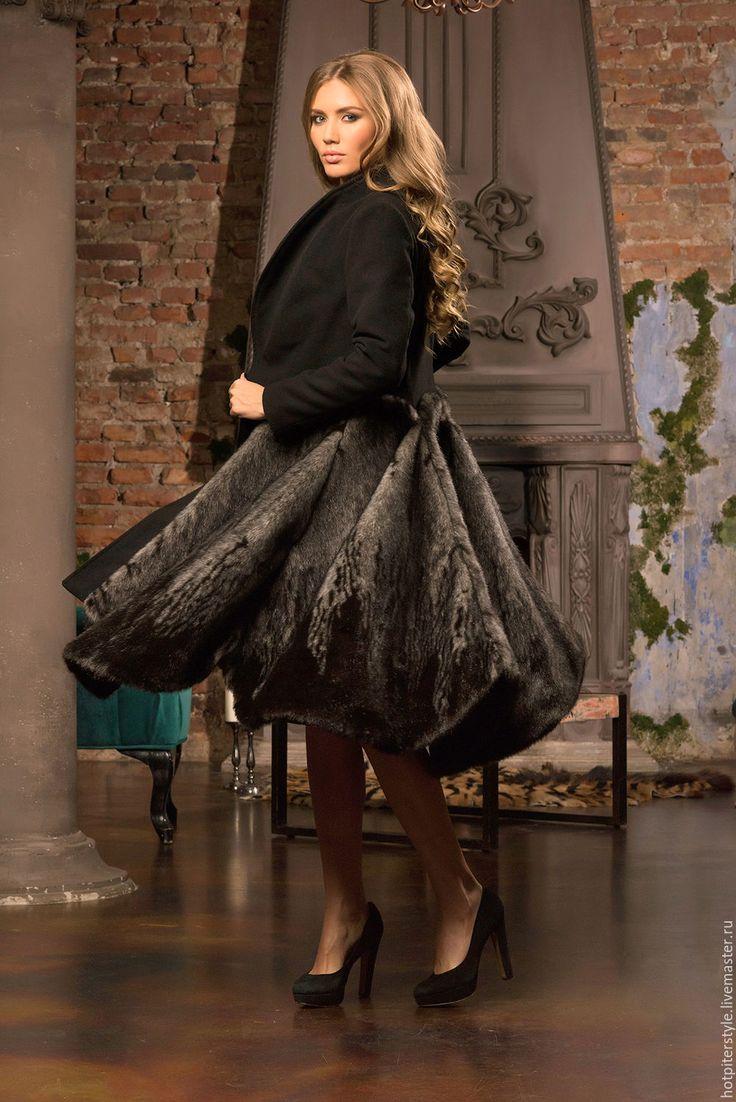 Купить Авторское пальто в миди длине. Russian Style - пальто теплое пальто