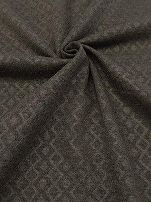 New Arrival! Dark Gray Diamond Embossed Ponte Knit 56W