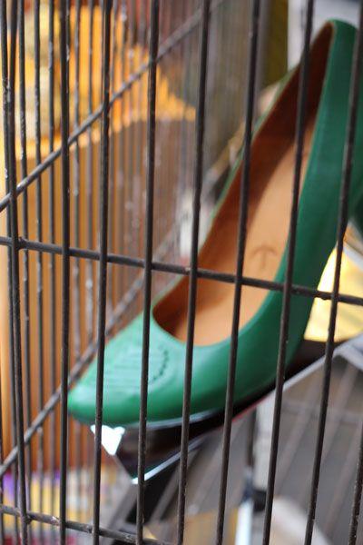 Hiding in a cage