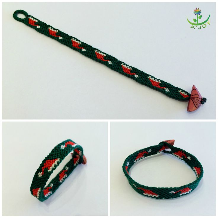 Friendship Bracelet FB00021 (Strings : 11, Colours : 3, Rows : 20)