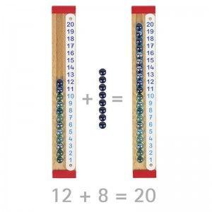Jouet en bois Règle de Calculs à billes Goki - Jouet Goki