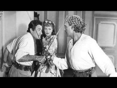Captain Kidd - black and white.  Ruthless pirate Captain William Kidd recruits a crew of cut-throat sea dogs to take part in a plot to swindle the King out of an Indian treasure!   Charles Laughton, Randolph Scott, Barbara Britton - 1945.