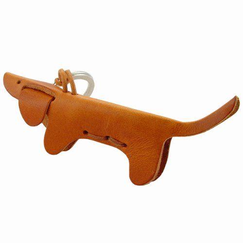 CANE - Dog Italian Leather Key Chain I WANT THIS