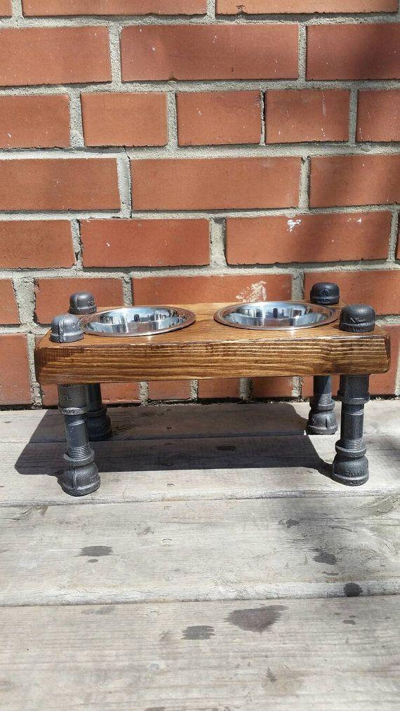Tubo industriale rustico e legno di PipeAndWoodDesigns su Etsy