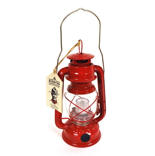 Scouting LED Storm Lantern part of the True Brands lisenced Scout Heritage range  - http://www.scout-products.com/pocket-tools-store/Scout-LED-Storm-Lantern-Red.html