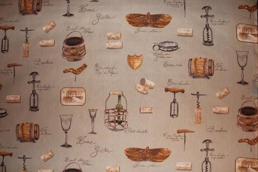 tablecloth fabrics wine theme - Google Search