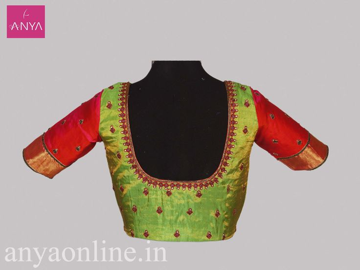 Purchase Designer blouses online Coimbatore by Anya Boutique. #blouses #embroidery_blouses #designerblouses