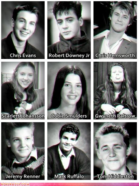 The Avengers…. the early years. :) Wenn man mich…