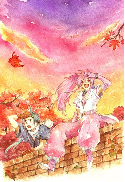 Arche and Chester from Tales of Phantasia