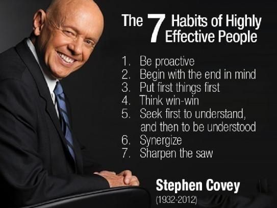 Covey's The 7 Habits of Highly Effective People!