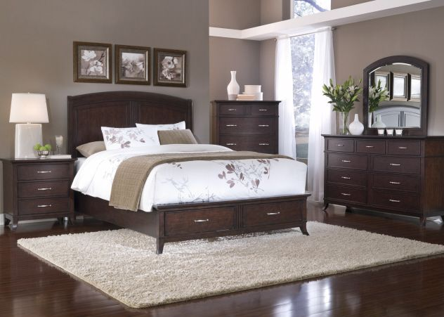 Find This Pin And More On Things I Love Paint Colors With Dark Wood Furniture Bedroom Setup