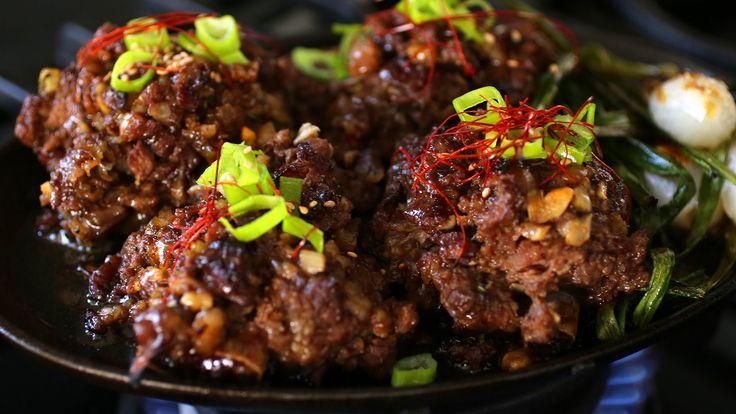 Minced, Seasoned, & Grilled Beef Ribs (Tteokgalbi : 떡갈비)