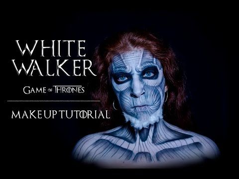 White Walker (Game of thrones) Makeup tutorial..stop motion!!!! - YouTube