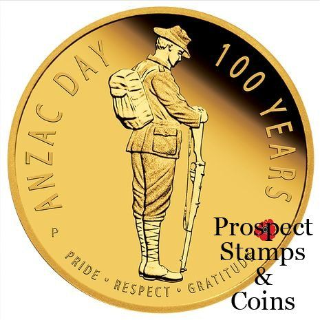 2016 The ANZAC Spirit - ANZAC Day 100 years 1/4oz Gold Proof Coin