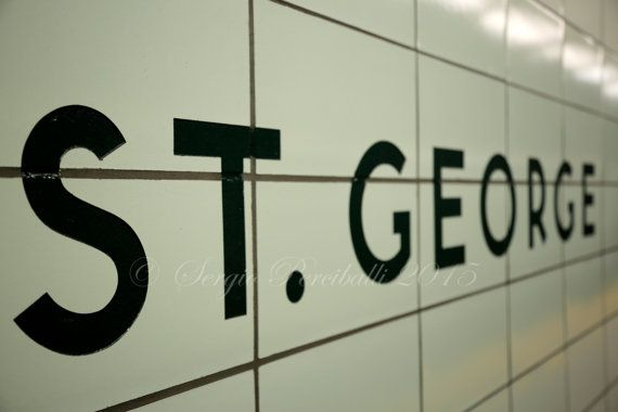 St. George, Toronto Subway, Station, Street, Sign, Bloor, Art, Text, Tiles, Architecture, Downtown, Ontario, Canada, Contrast, Photo