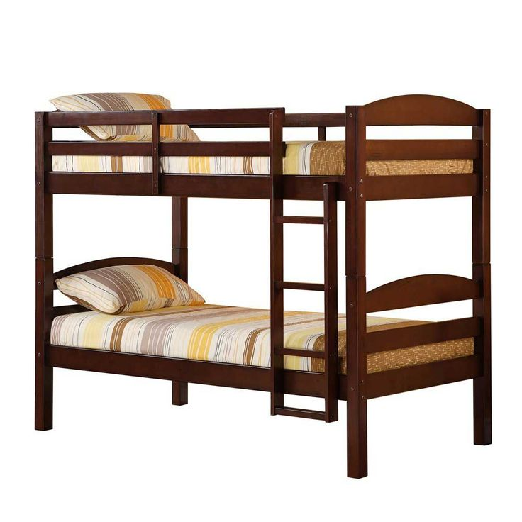 80 inch Espresso Solid Wood kids Bunk Bed with 59 percent off discount