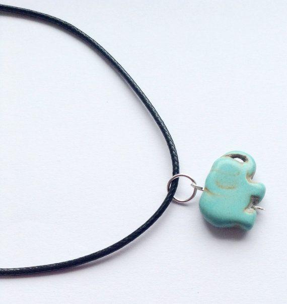 Elephant+Pendant+Necklace+Turquoise+Elephant+by+DanusHandmade