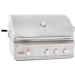 Blaze Professional 34-Inch Built-In Natural Gas Grill With Rear Infrared Burner - …
