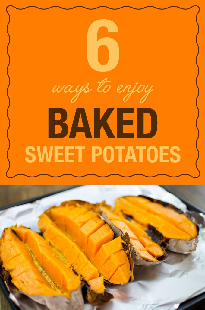 6 Ways To Enjoy Baked Sweet Potatoes - keeping a supply of baked sweet potatoes in the fridge is a great time saver for a number of recipes! | VeggiePrimer.com