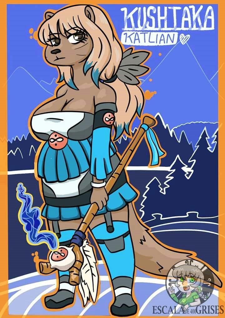 Nahual Kushtaka, original charakcter, Beings of Native American Mythology, Witches Otter Demons with Vampire Characteristics, Earth-related Spirit and Water of Alaska Tlingit Mythology. E400G