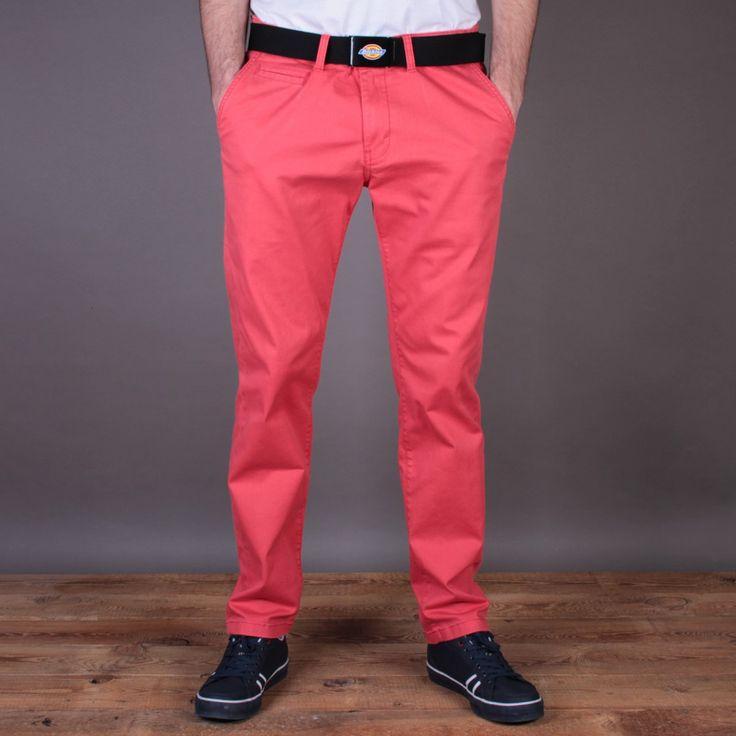 Czerwone męskie spodnie materiałowe Dickies Calabasas Red / www.brandsplanet.pl / #dickies streetwear