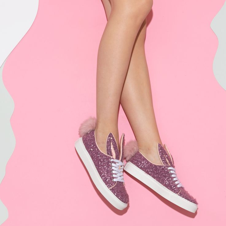 Tail Sneaks lilac-wool sequin
