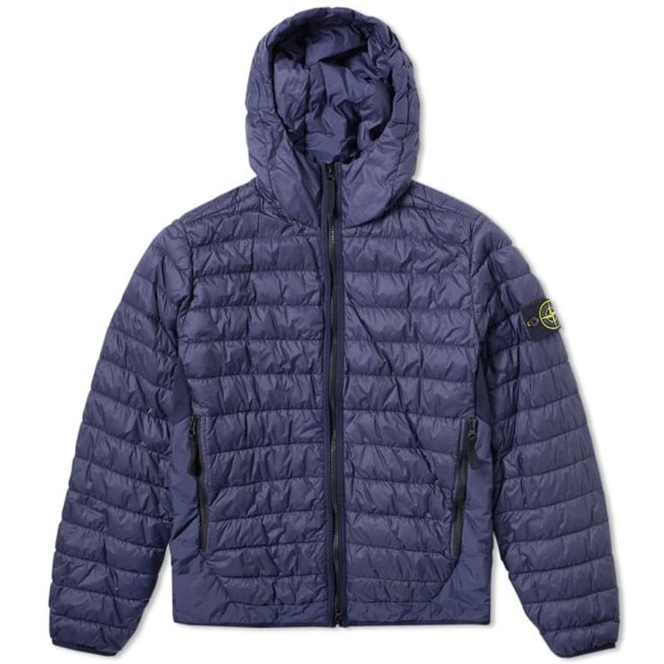 Stone Island Garment Dyed Micro Yarn Down Hooded Jacket (Inchiostro Blue) | END.