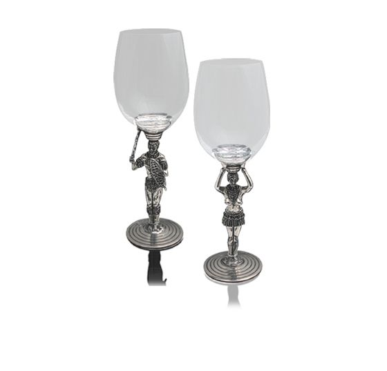 Planning a classy Christmas dinner? These beautiful glasses will only add to your table decor. They are both decorative and function! Sold by www.wave2africa.com