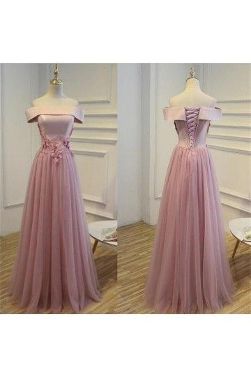 964fd73067f Outlet Morden Pink Long Prom Evening Dress With Lace Up Sequin Tulle Floor-length  Dresses