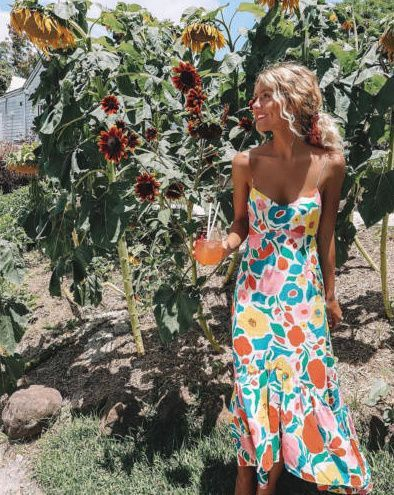 Amanda Floral Maxikleid von Fashion Struck