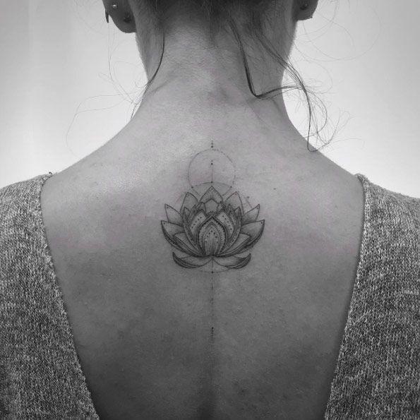 Lotus Flower Tattoo by Balazs Bercsenyi