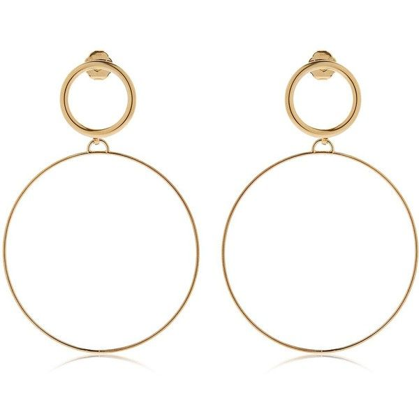 Maria Francesca Pepe Women Hoops I Did It Again Earrings found on Polyvore featuring jewelry, earrings, accessories, gold, hoop earrings, nickel free hoop earrings, nickel free earrings, nickel free jewelry and lightweight earrings