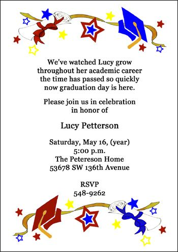 Graduation Party Invitations Open House Graduation Party