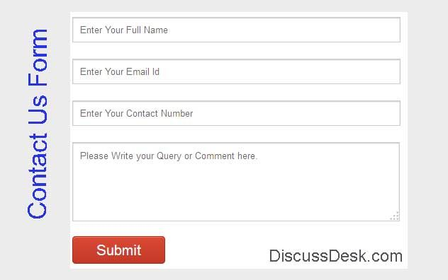 Contact form is built in simple HTML and textbox, textarea validation is done with javascript. All the user input will be store in Mysql table. When user gives any input, we will serve all input via Ajax and insert into mysql table. After successful insertion into table we will send back a success message into the same page.  http://www.discussdesk.com/simple-contact-form-in-php-mysql-ajax-with-javascript-Validation.htm