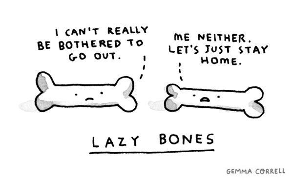 Lazy bonesFunny Things, Laugh, Lazybones, Funny Bones, Funny Stuff, Cartoons Network, Funnyism Pictures, Lazy Bones, Gemma Correll