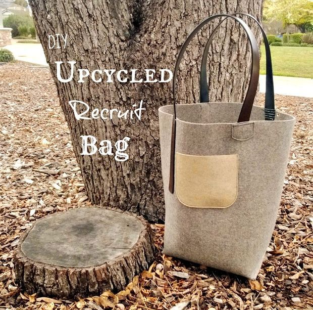 DIY Felt Bag. Wonderful tutorial on how to make this awesome tote!