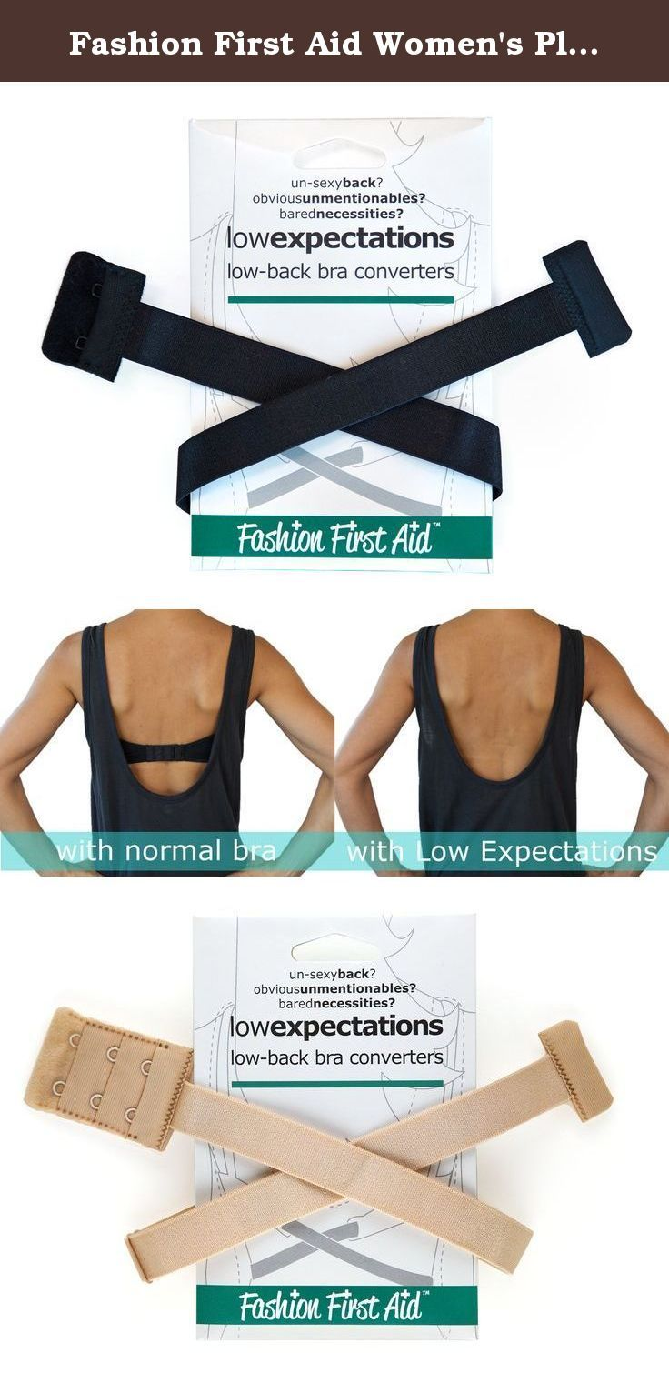 Fashion First Aid Women's Plus-Size Low Expectations Low Back Bra Converters. Put the sexy back in sexy back. Low Expectations low back bra strap hooks onto your existing bra to pull down the back strap, allowing you to wear low back styles while still having the support and discretion your normal bra affords. It lowers your bra band an average of 5 inches and saves you money by not having to buy a specialty bra, which never seems to fit well anyway. Using Low Expectations is easy…