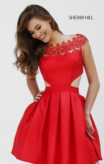 Red red red!!! Sherri Hill Fall 2015