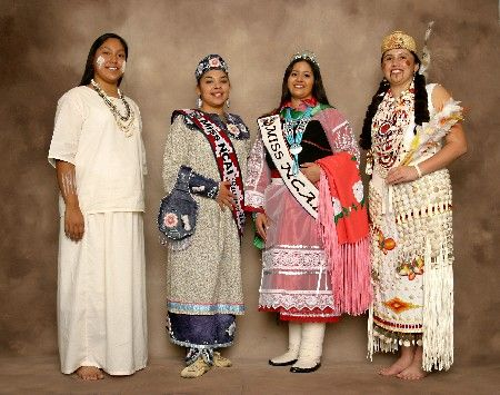 Miss NCAI 2003 Court, (L to R): Maurisa Red Deer Two Two, Best Talent (Tohono O'odham Nation), Barbara Lynn Abrams, Miss NCAI Runner-Up (Seneca Nation), Cheryl V. Dixon, Miss NCAI 2003-2004 (Pueblo of Isleta), Tiffany Dawn Stuart, Miss Congeniality (Confederated Tribes of Siletz Indians of Oregon).