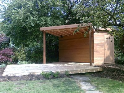 Tool Shed With Covered Patio