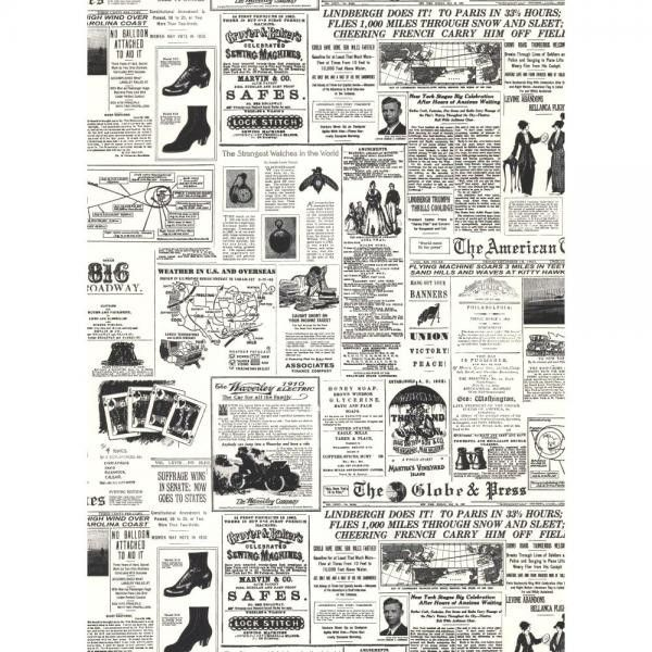 American Classics Headline News Wallpaper | Wallpaper Warehouse